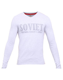 Soviet Upney Long Sleeve T-Shirt Grey