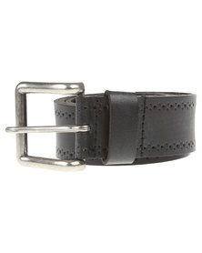 Soviet Mirage Leather Belt Black