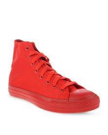 Soviet Viper Hi Nylon Sneakers Red