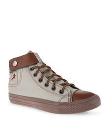 Soviet Derby Canvas Sneakers Stone