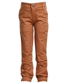 Soviet Apparel Falcons Slim Leg Fashion Chinos Brown