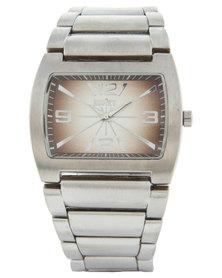 Soviet Square Dial Silver-Tone Bracelet Watch