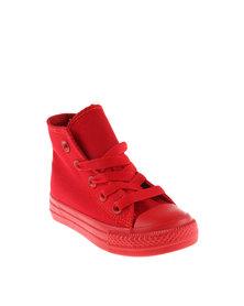 Soviet Viper High Infants Sneaker Red Mono