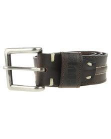 Soviet Leather Belt Brown