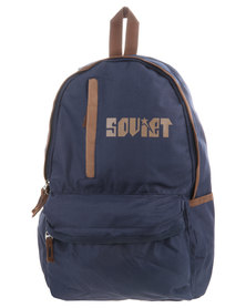Soviet Spurs Front Zip Backpack Navy
