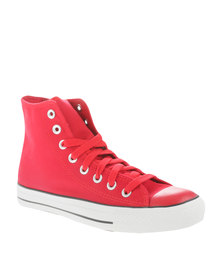 Soviet Mirada Hi Cut Canvas Mono Upper Sneakers Red