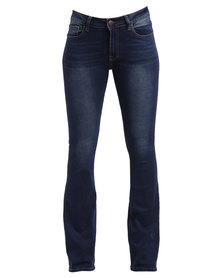 Soviet York Bootleg Jeans Blue