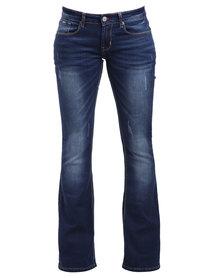Soviet Winchester Bootleg Jeans Blue