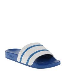 Soviet Y Quest Slip On Sandals Blue
