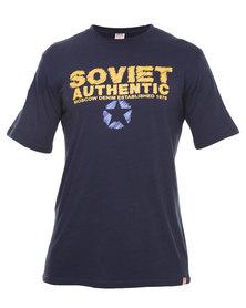 Soviet Stinger Printed Tee Navy