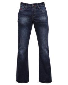 Soviet Merton #6 Bootleg Jeans Blue