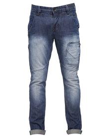 Soviet Bakerloo #9 Slim Leg Jeans Blue