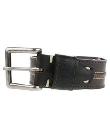 Soviet Shuttle Leather Belt Brown