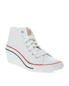 Soviet Kate Wedge Sneakers White