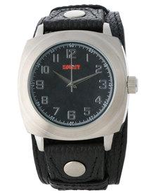 Soviet Black Dial Stud Analogue Watch