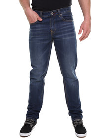 Soviet 50 Cent Slim Fit Denim Jeans Blue