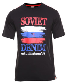 Soviet Missouri Printed Tee Black