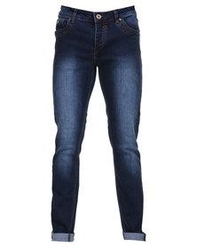 Soviet Keaton #4 Fashion Skinny Denim Jeans Blue