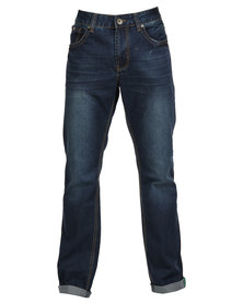 Soviet Maslow #12 Fashion Straight Leg Jeans Blue