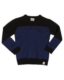 Soviet Percy Colourblock Jersey Blue