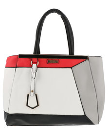 Soviet Jazzlyn Colourblock Structured Tote White