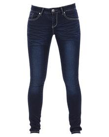 Soviet Silvia Skinny Jeans Blue