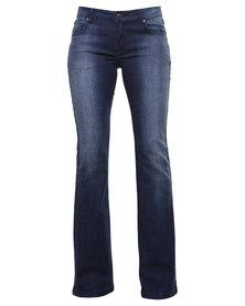 Soviet Sailfin Bootleg Jeans Blue