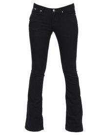 Soviet Evelyn Bootleg Jeans Black