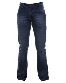 Soviet Hudson Straight Leg Jeans Blue