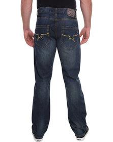 Soviet Cudi Straight Leg Denim Jeans Blue