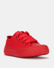 Soviet Viper Low Infant Sneakers Red Mono