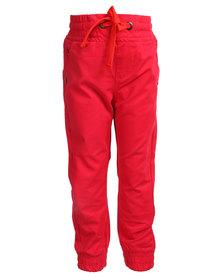 Soviet Gladiators Cuffed Pants Red