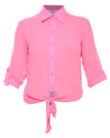 Soviet Durham Chiffon Shirt Pink