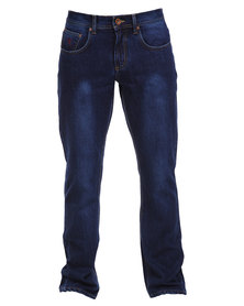 Soviet Rhode Men's Regular Bootleg Denim Jeans Indigo