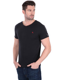 Soviet Bolt Short Sleeve Basic T-shirt Black
