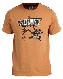 Soviet Tucker Crew Neck T-Shirt Rust