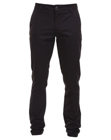 Soviet Falconetti Slim Leg Pants Black