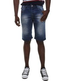 Soviet Huntsville Denim Shorts Blue