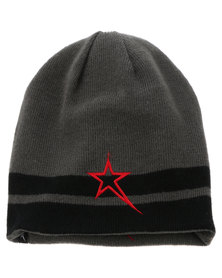 Soviet Gemini Stripe Border Beanie Black & Grey