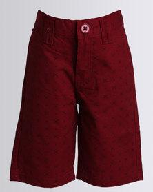 Soviet Kale Printed Fashion Shorts Red