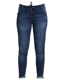Soviet Apparel Long Beach Jeans Blue