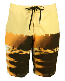 Speedo Sunrise Surfer Boardshorts Yellow
