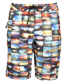 Speedo100 Sunrises Boardshorts Multi-Coloured