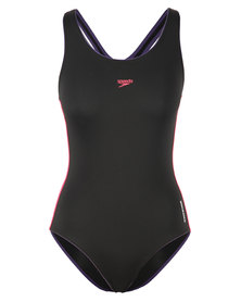 Speedo Endurance Pulseback Full-Piece Swimsuit Black
