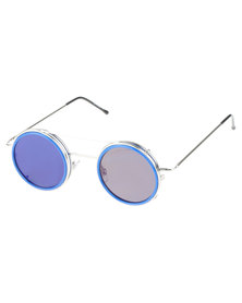 Spitfire Sonic Round Sunglasses Blue