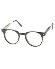 Spitfire Teddy Boy Clear Lens Glasses Black