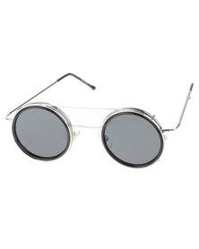 Spitfire Sonic Round Sunglasses Silver