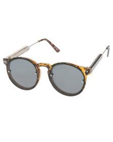 Spitfire Post Punk Round Sunglasses Black