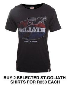 St Goliath Racer Tee Black