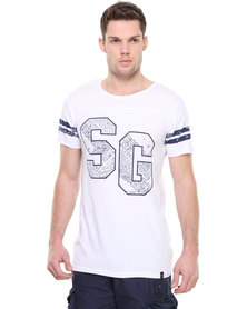St Goliath Blues Tee White